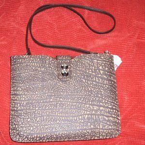 Croton African Buffalo Leather Shoulder Bag NWOT